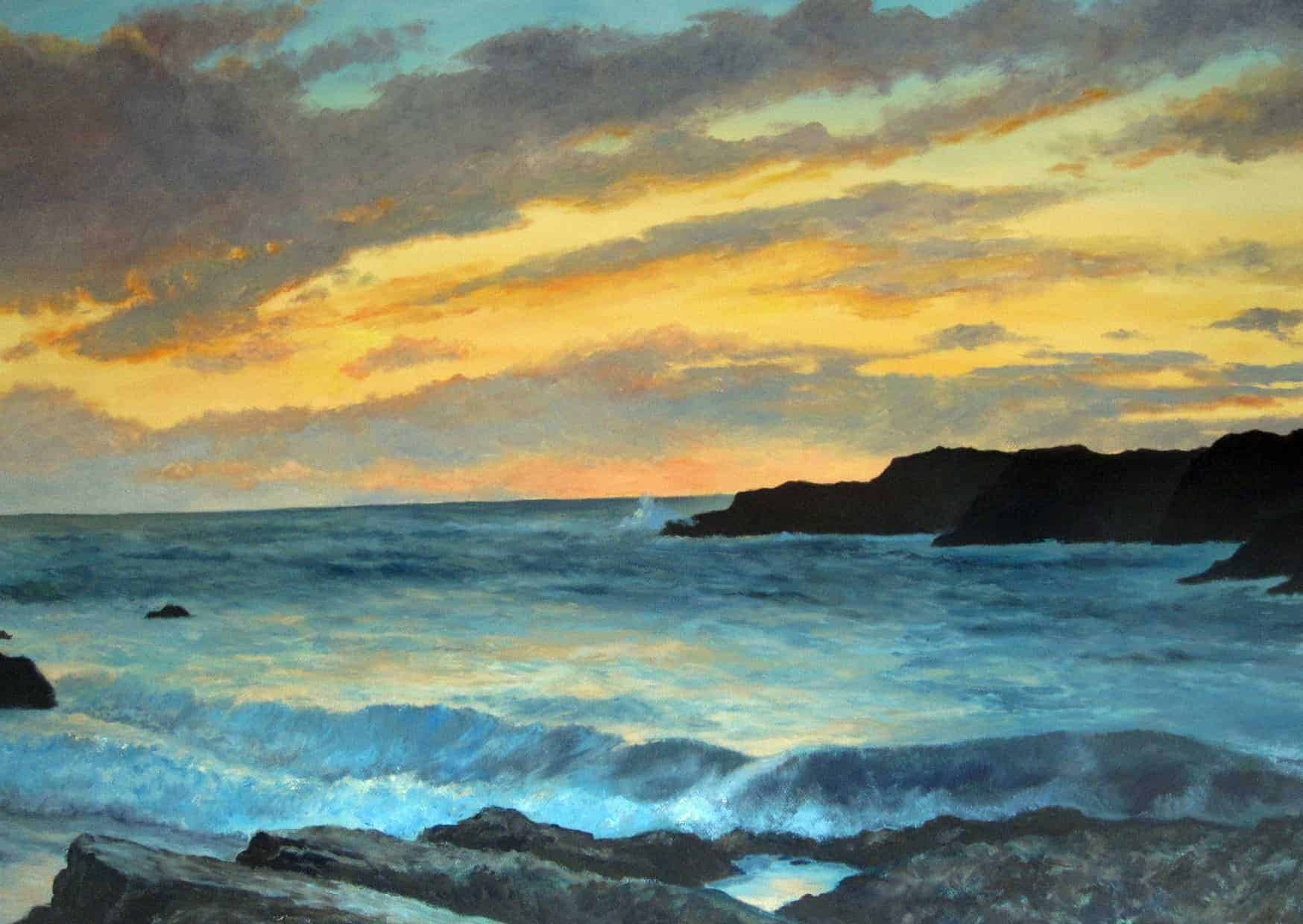 Rocky Coast, Sunset Image