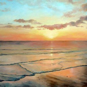 image of fine art greetings card, West Wittering Beach by Sandy Kendall