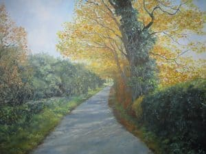 An Oxfordshire Lane in Autumn Image