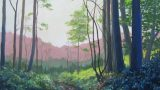 The Path up to the Common, Surrey, oil painting by Sandy Kendall, fine artist